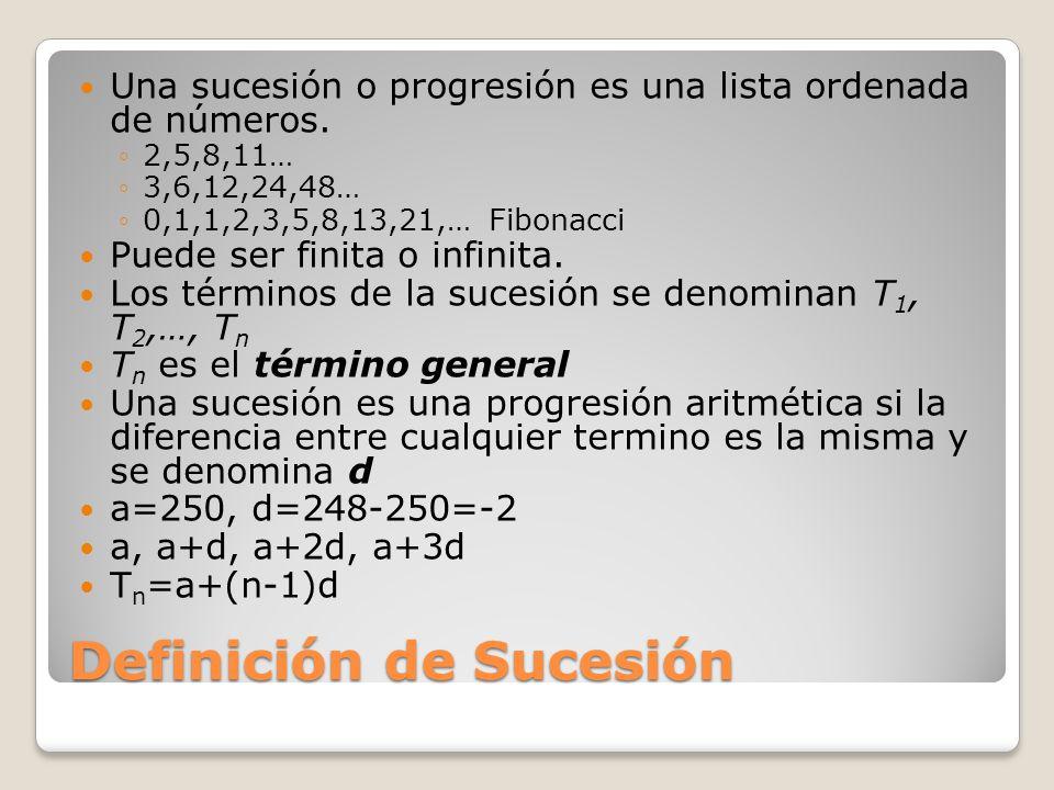 Definición de Sucesión