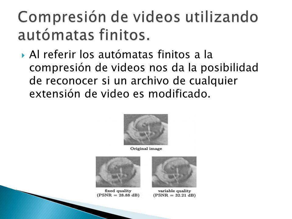 Compresión de videos utilizando autómatas finitos.