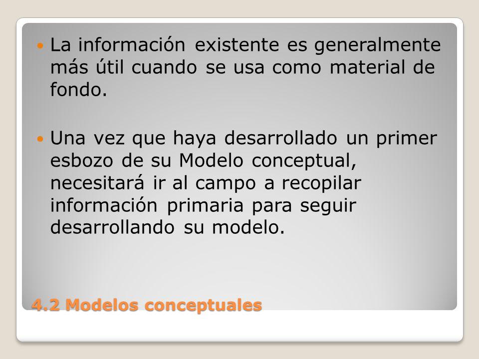 La información existente es generalmente más útil cuando se usa como material de fondo.
