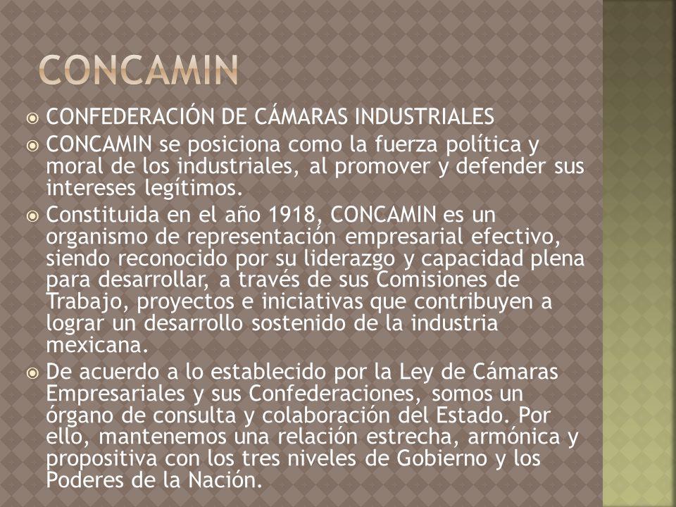 CONCAMIN CONFEDERACIÓN DE CÁMARAS INDUSTRIALES