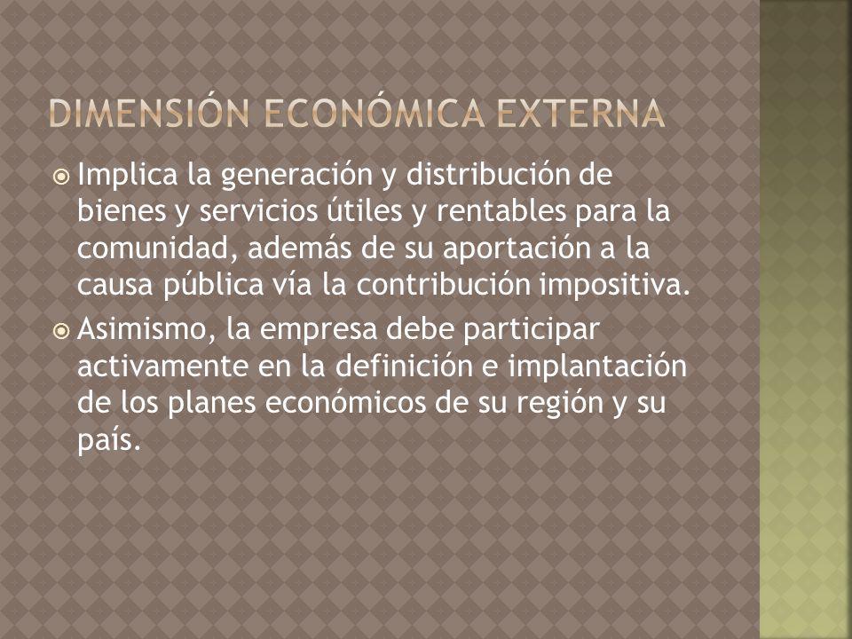 dimensión económica externa
