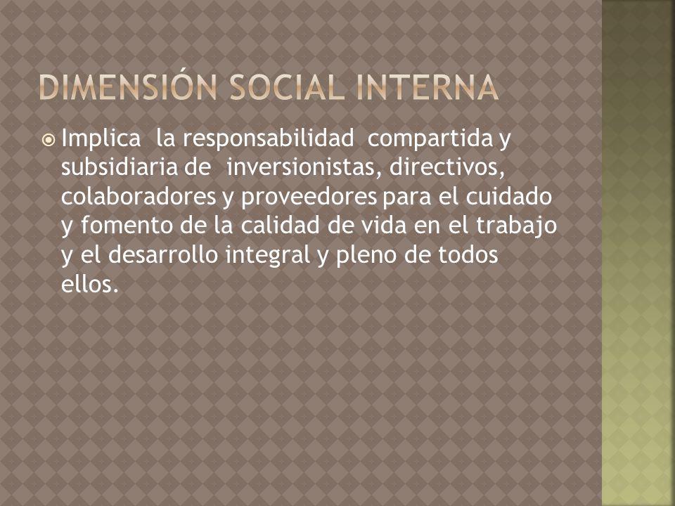 dimensión social interna