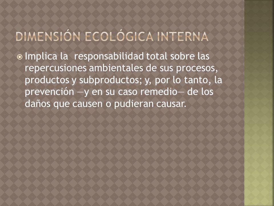 dimensión ecológica interna