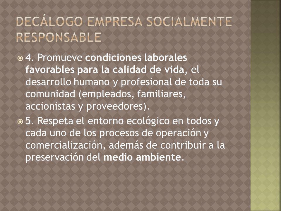 DECÁLOGO EMPRESA SOCIALMENTE RESPONSABLE