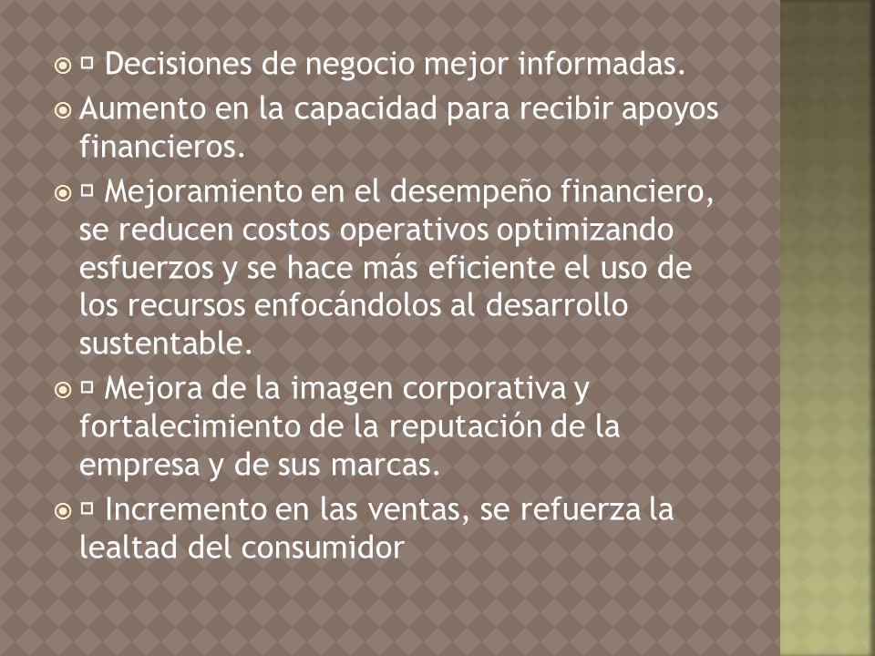  Decisiones de negocio mejor informadas.