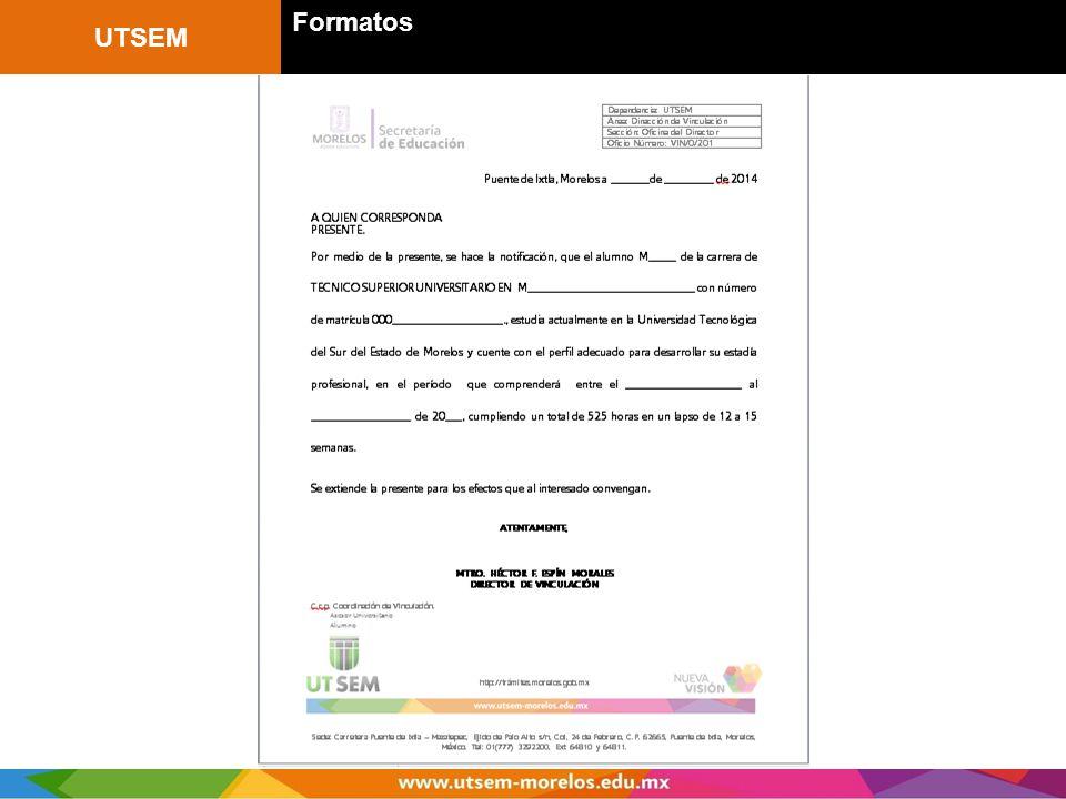 UTSEM Formatos