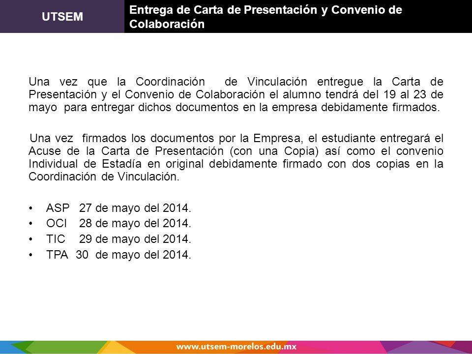 UTSEM Entrega de Carta de Presentación y Convenio de Colaboración.