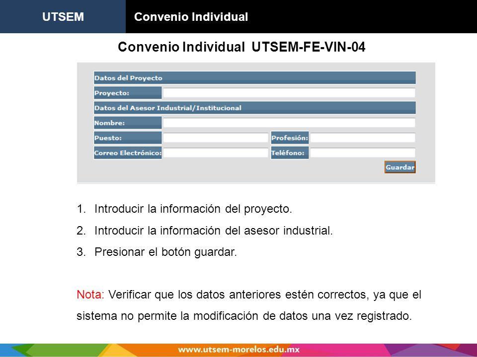 Convenio Individual UTSEM-FE-VIN-04