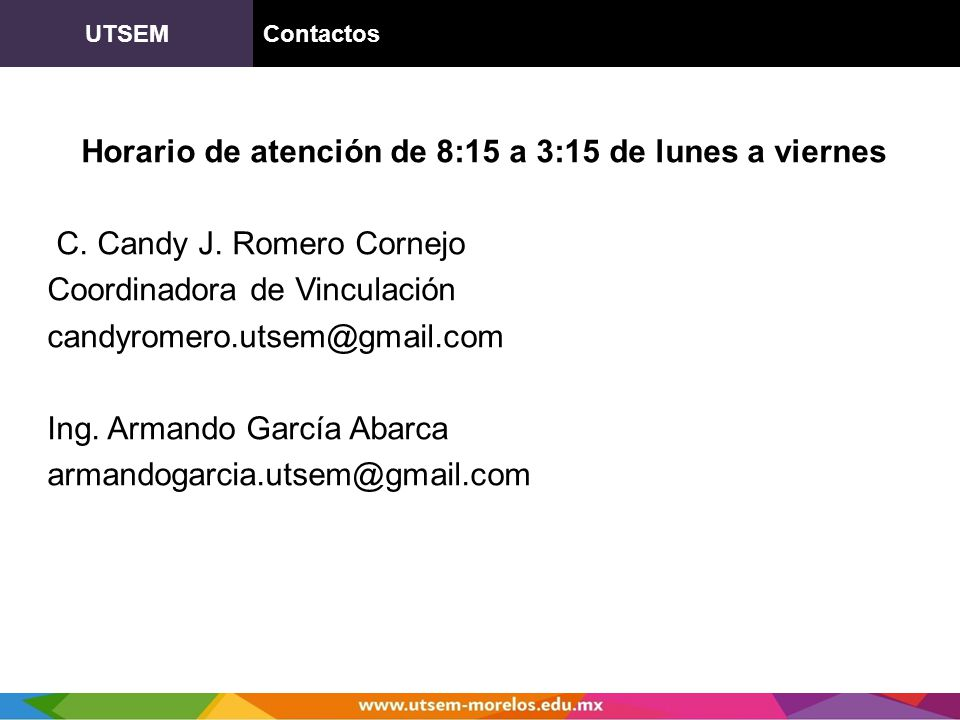 UTSEM Contactos.