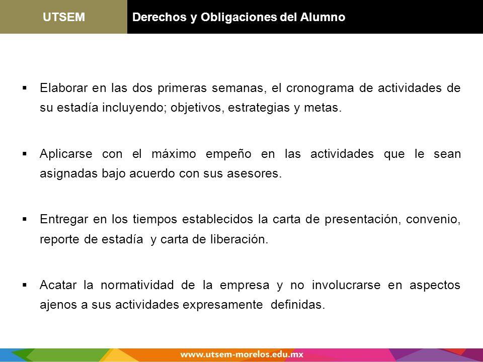 UTSEM Derechos y Obligaciones del Alumno.