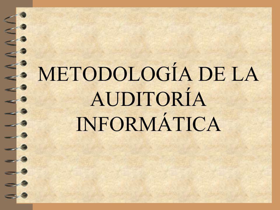 METODOLOGÍA DE LA AUDITORÍA INFORMÁTICA