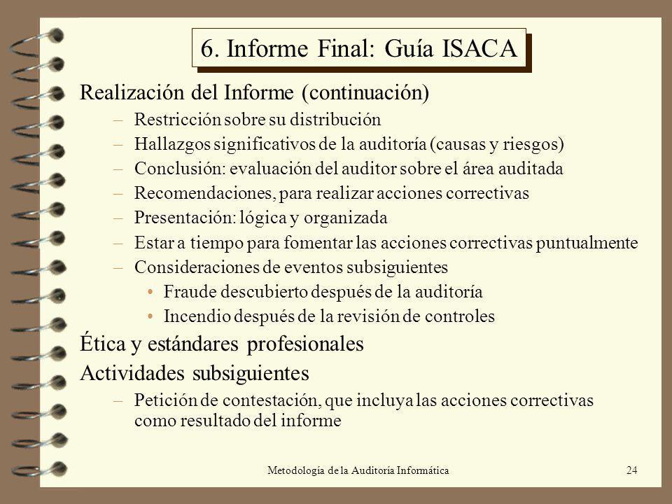 6. Informe Final: Guía ISACA