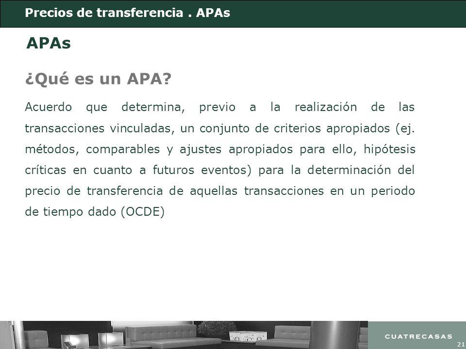 APAs ¿Qué es un APA Precios de transferencia . APAs