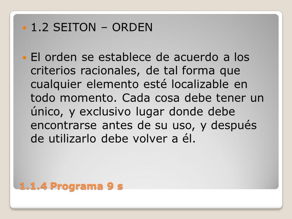 1.2 SEITON – ORDEN