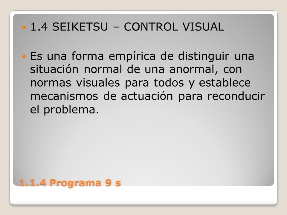 1.4 SEIKETSU – CONTROL VISUAL