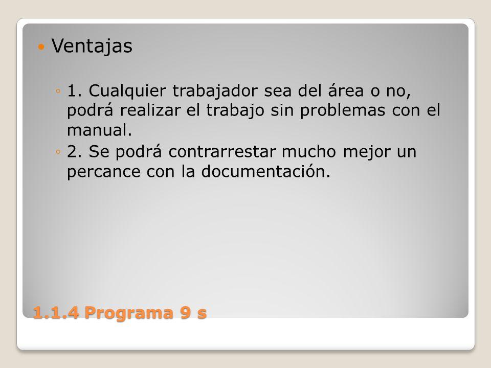Ventajas 1. Cualquier trabajador sea del área o no, podrá realizar el trabajo sin problemas con el manual.