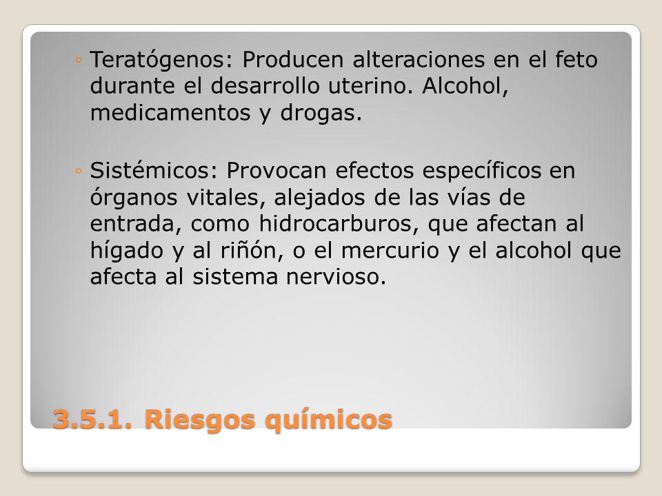 Teratógenos: Producen alteraciones en el feto durante el desarrollo uterino. Alcohol, medicamentos y drogas.