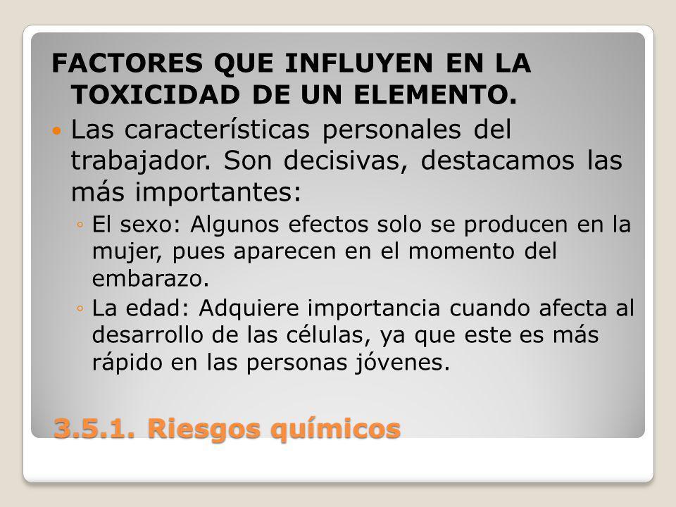 FACTORES QUE INFLUYEN EN LA TOXICIDAD DE UN ELEMENTO.