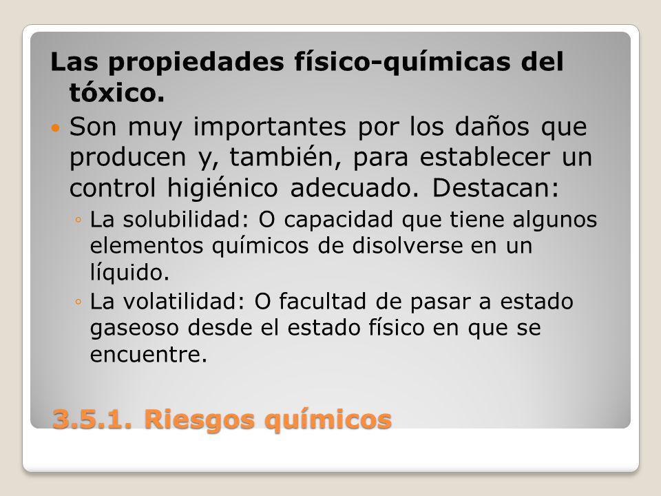 Las propiedades físico-químicas del tóxico.