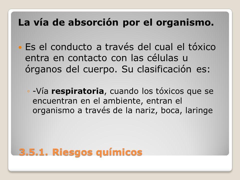 La vía de absorción por el organismo.