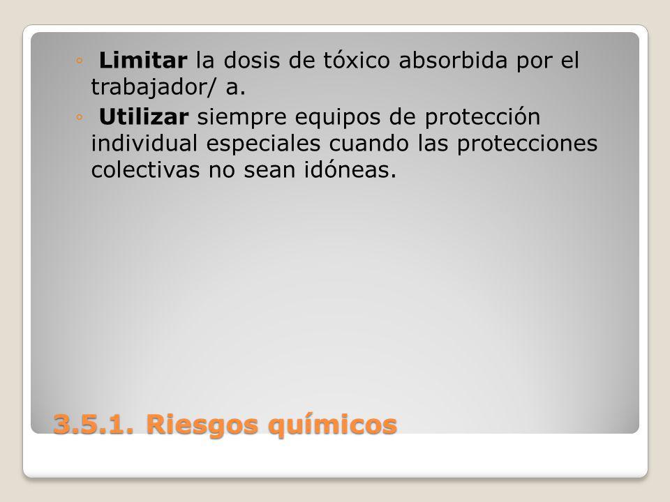 Limitar la dosis de tóxico absorbida por el trabajador/ a.