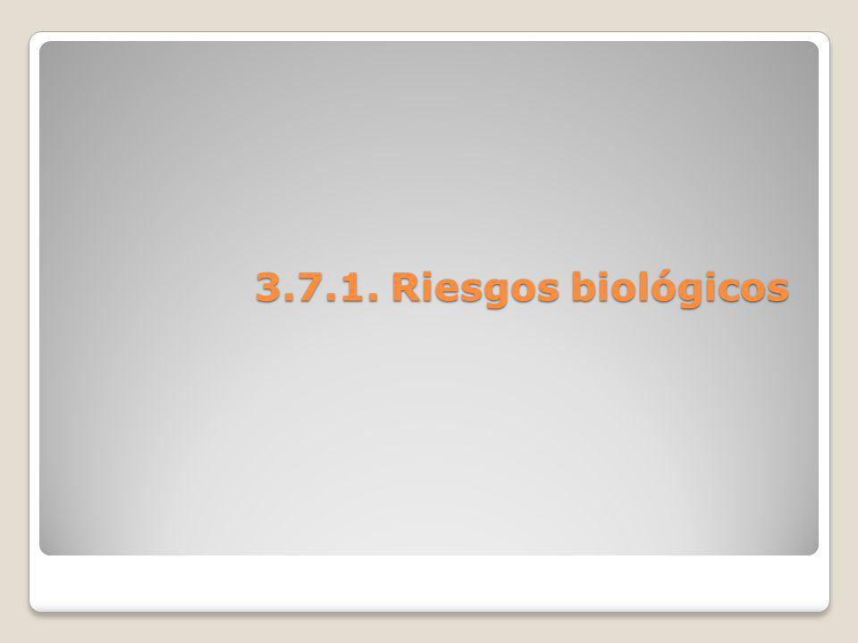 3.7.1. Riesgos biológicos