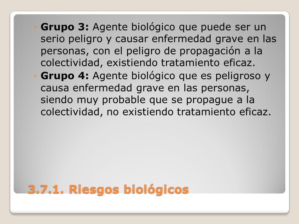 Grupo 3: Agente biológico que puede ser un serio peligro y causar enfermedad grave en las personas, con el peligro de propagación a la colectividad, existiendo tratamiento eficaz.