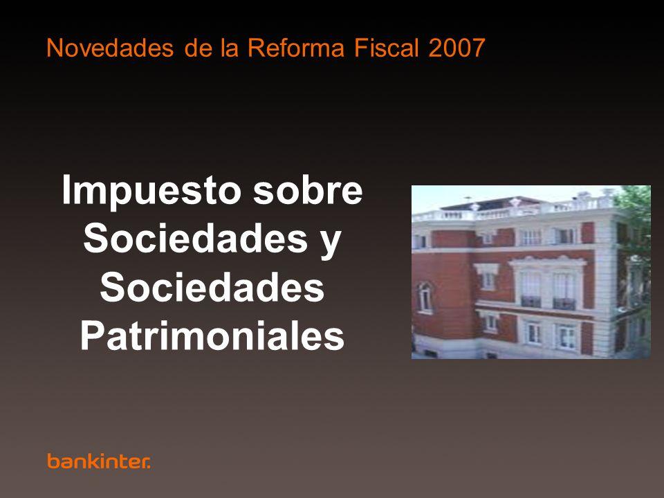 Impuesto sobre Sociedades y Sociedades Patrimoniales