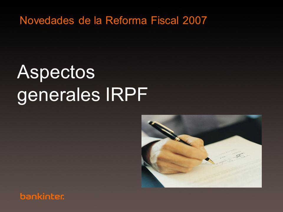Aspectos generales IRPF