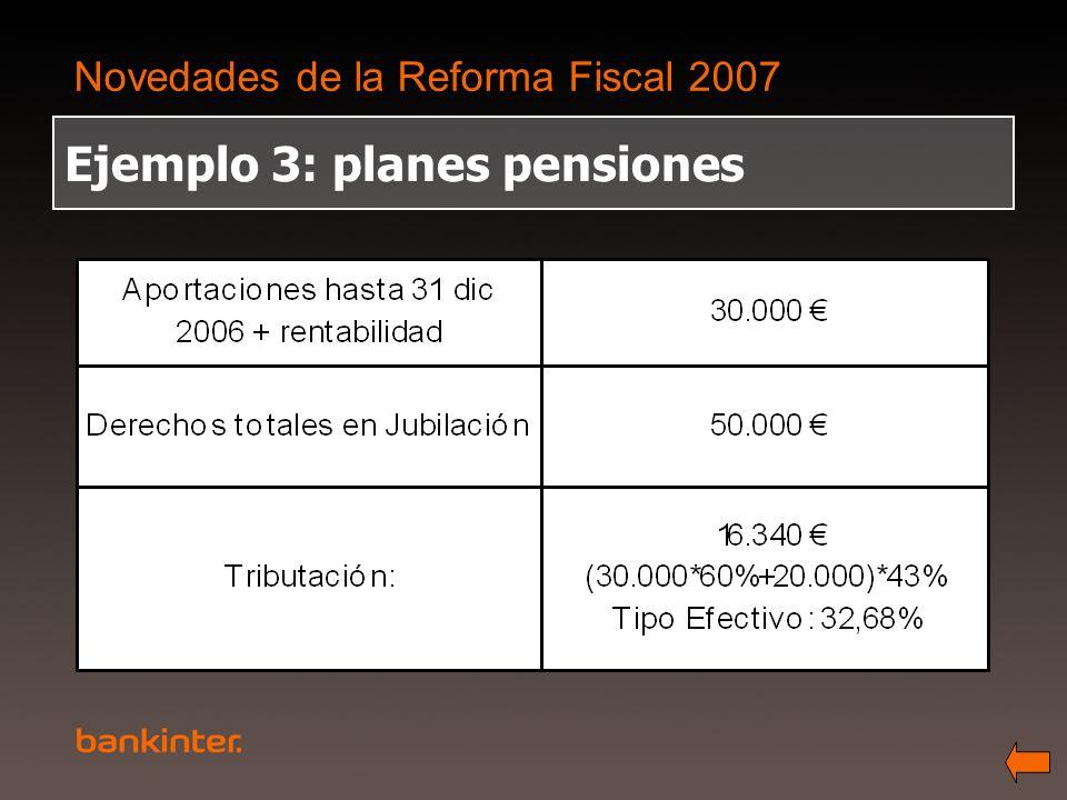 Ejemplo 3: planes pensiones