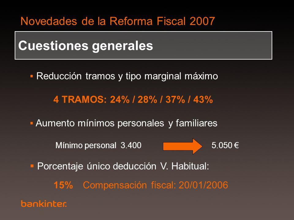 Cuestiones generales 4 TRAMOS: 24% / 28% / 37% / 43%