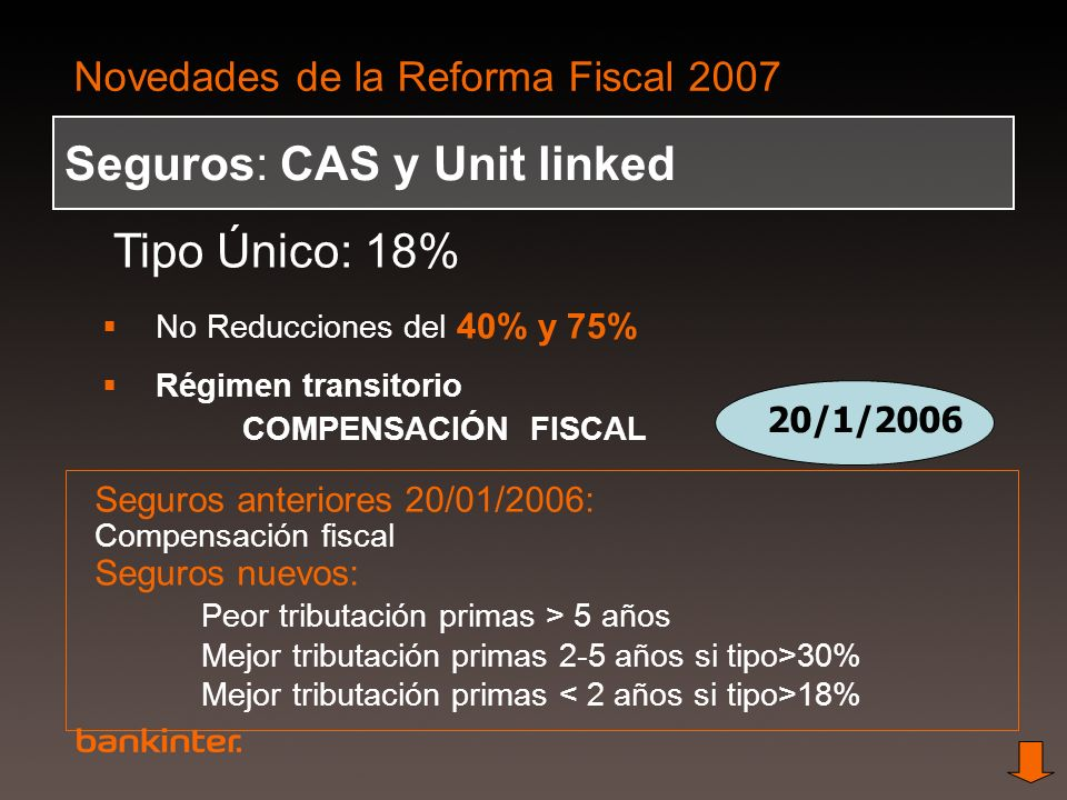 Seguros: CAS y Unit linked