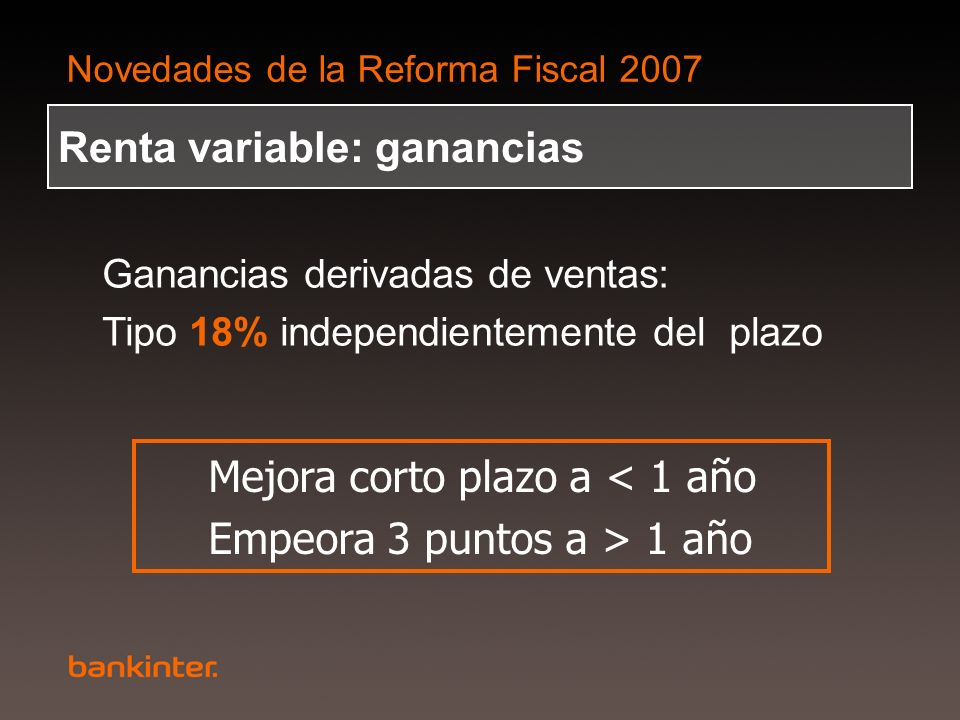 Renta variable: ganancias