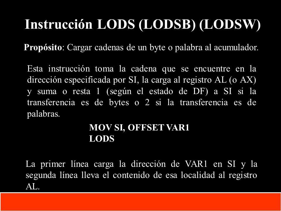Instrucción LODS (LODSB) (LODSW)