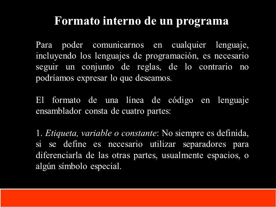 Formato interno de un programa