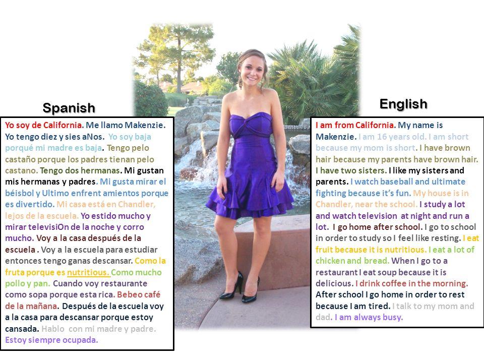 English Spanish.