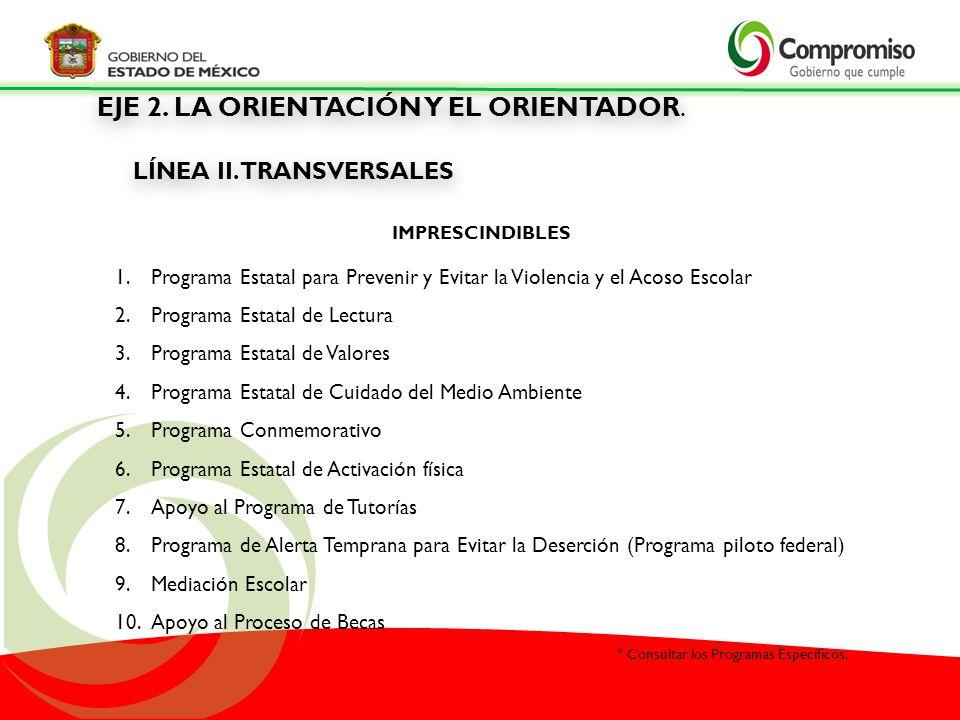 LÍNEA II. TRANSVERSALES