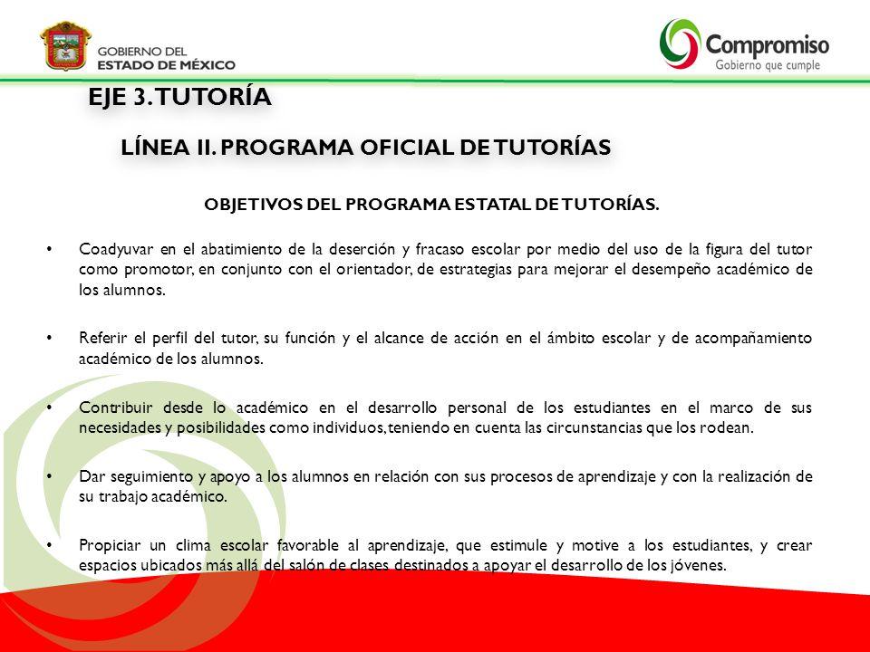 Objetivos del Programa Estatal de Tutorías.
