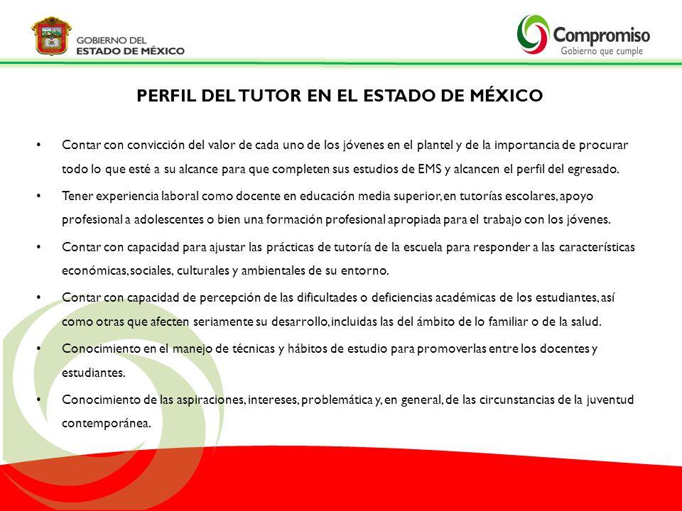 PERFIL DEL TUTOR EN EL ESTADO DE MÉXICO