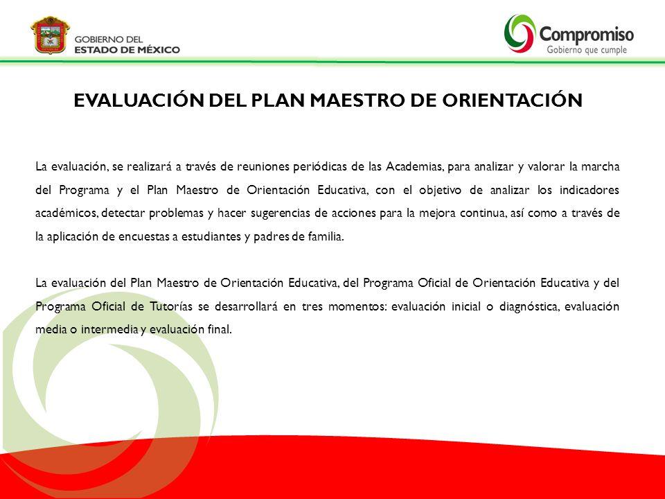 EVALUACIÓN DEL PLAN MAESTRO DE ORIENTACIÓN