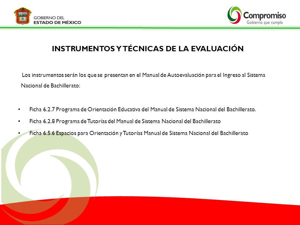 INSTRUMENTOS Y TÉCNICAS DE LA EVALUACIÓN