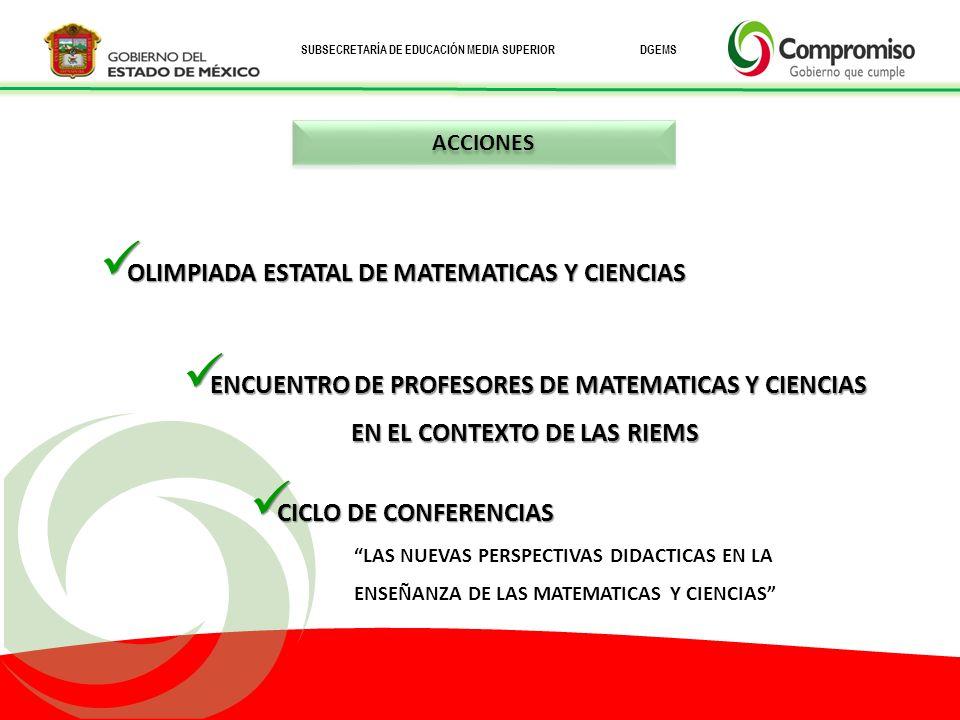 OLIMPIADA ESTATAL DE MATEMATICAS Y CIENCIAS