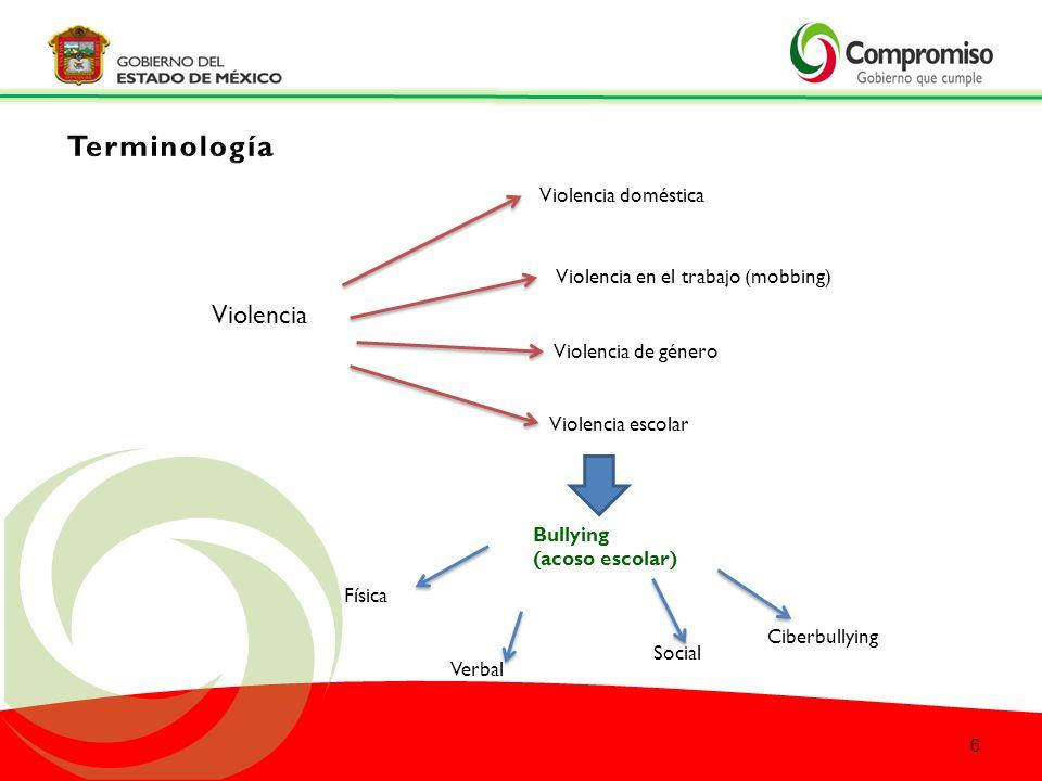 Terminología Violencia Violencia doméstica