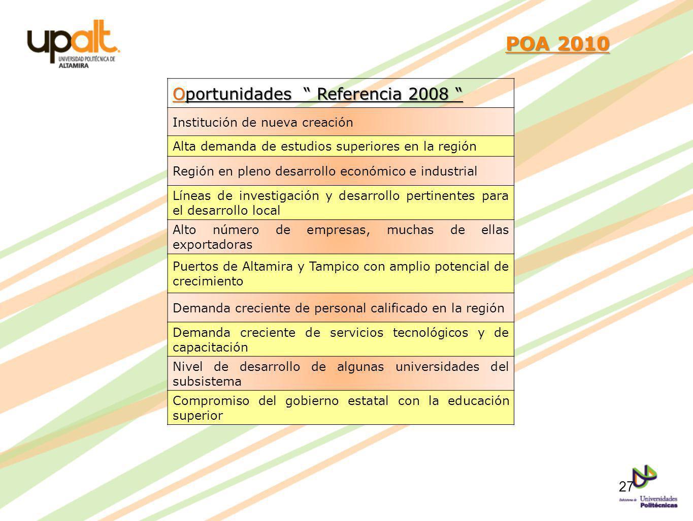 POA 2010 Oportunidades Referencia 2008