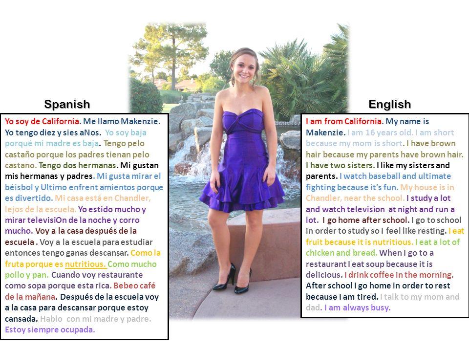 Spanish English.