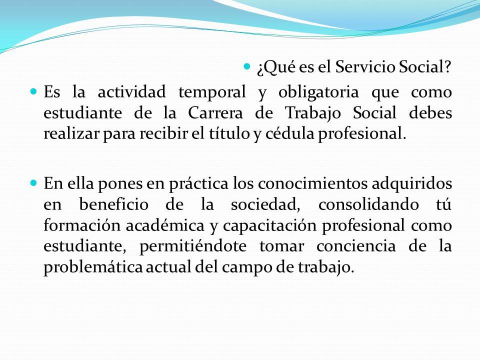 ¿Qué es el Servicio Social