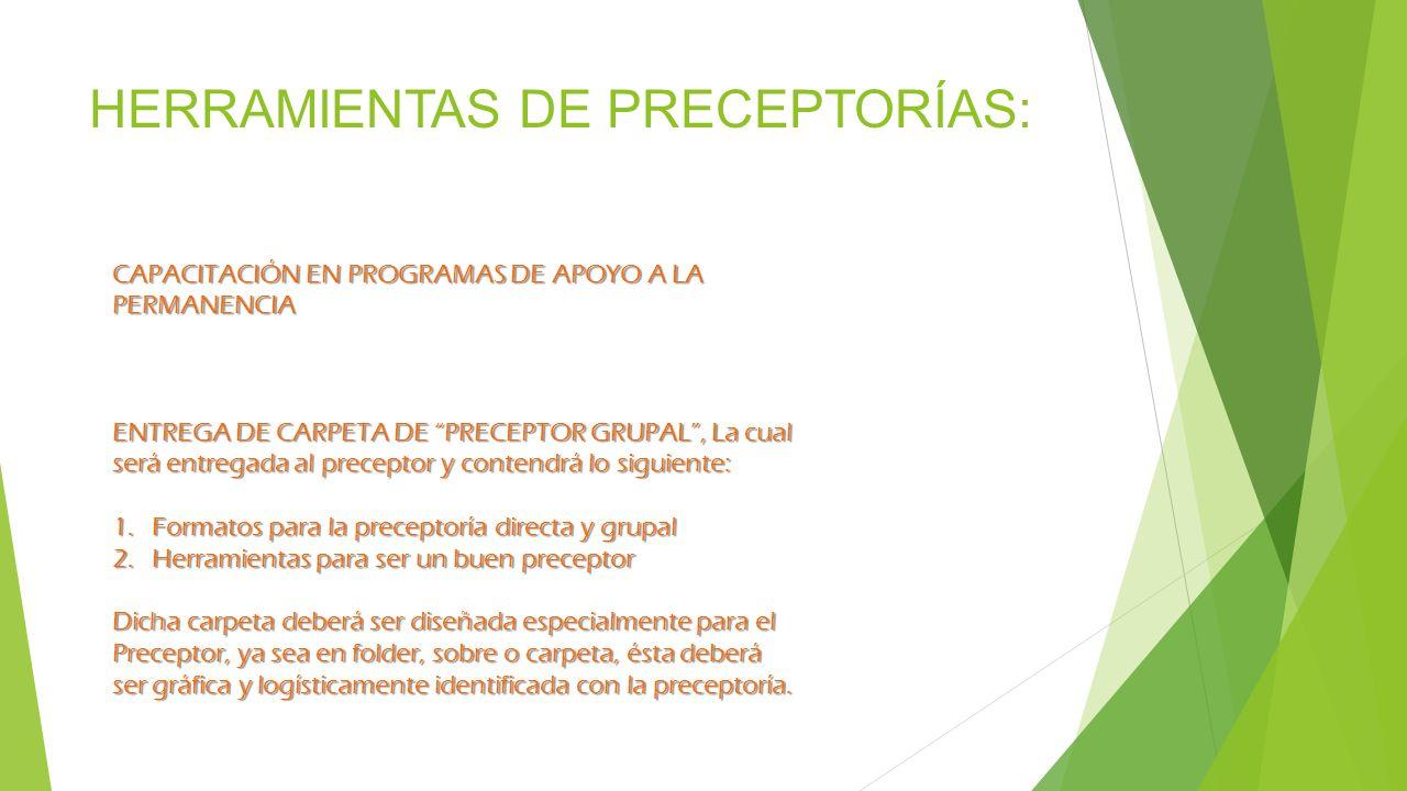 HERRAMIENTAS DE PRECEPTORÍAS:
