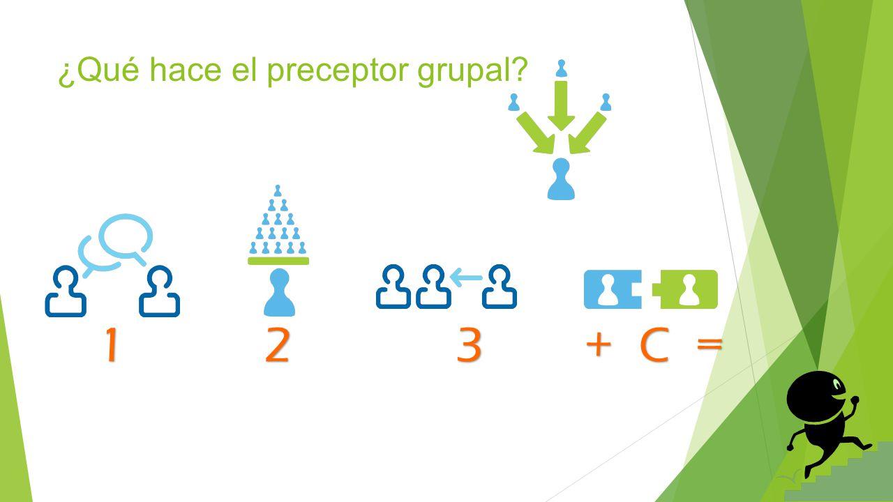 ¿Qué hace el preceptor grupal