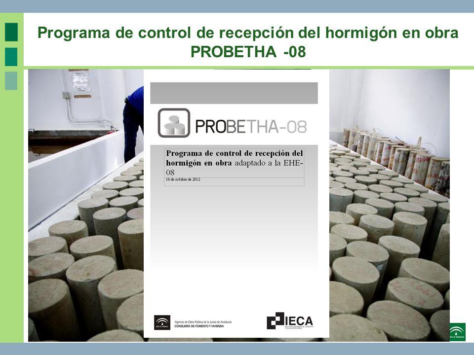 Programa de control de recepción del hormigón en obra PROBETHA -08