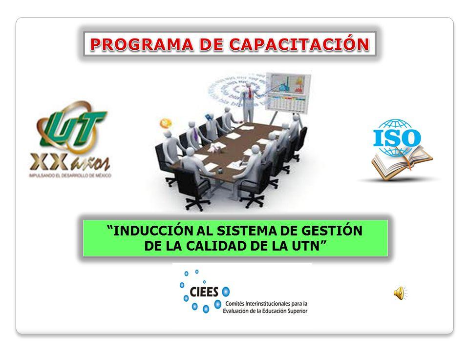 PROGRAMA DE CAPACITACIÓN INDUCCIÓN AL SISTEMA DE GESTIÓN